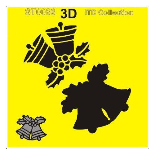 SZABLON MASKA 3D 16x16 - DZWONECZKI