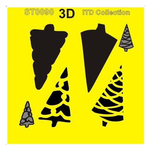 SZABLON MASKA 3D 16x16 - CHOINKI