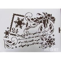 SZABLON A4 - KARTKA ŚWIĄTECZNA