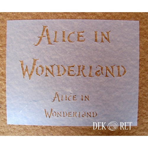 SZABLON DO DECOUPAGE ALICE IN WONDERLAND 20x25 CM