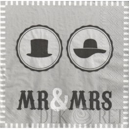 SERWETKA ŚLUBNA - MR & MRS