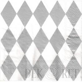 SERWETKA - ROMBY SREBRNE