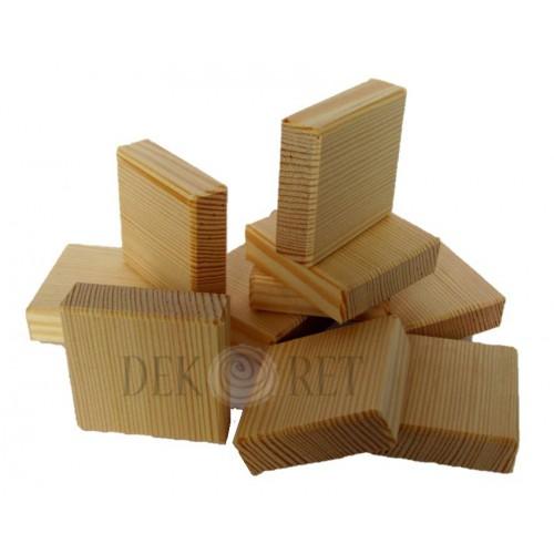 KLOCKI DREWNIANE 5x5x1,5 CM DO DECOUPAGE