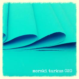 FOAMIRAN PIANKA 30X35 CM MORSKI TURKUS