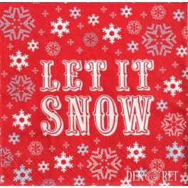 SERWETKA PACZKA -  LET IT SNOW