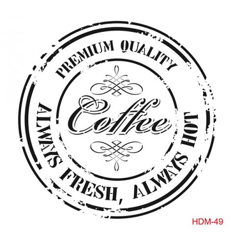 SZABLON - COFFEE, STEMPEL 25x25 CM