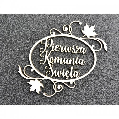 TEKTURKA - PIERWSZA KOMUNIA ŚWIĘTA OWAL