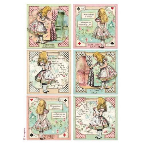 PAPIER RYŻOWY A4 - 6 KART Z ALICJĄ