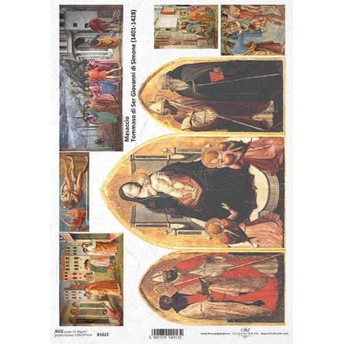 PAPIER RYŻOWY A4 - IKONY,OBRAZY RELIGIJNE
