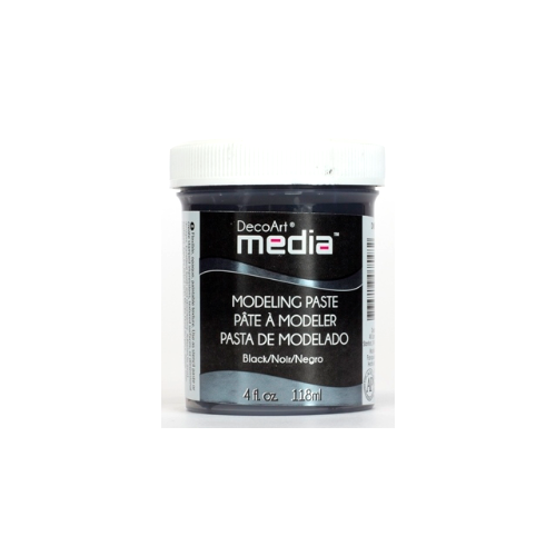DECOART MODELING PASTE BLACK 118 ML PASTA MODELUJĄCA