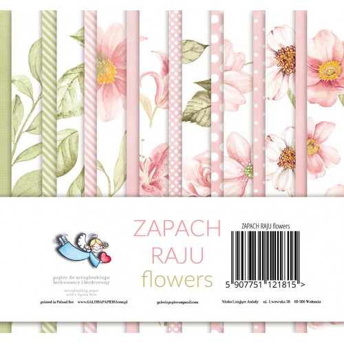 BLOCZEK  15 X 15 CM - ZAPACH RAJU FLOWERS