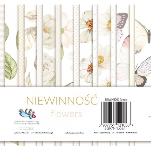 BLOCZEK  15 X 15 CM - NIEWINNOŚĆ FLOWERS