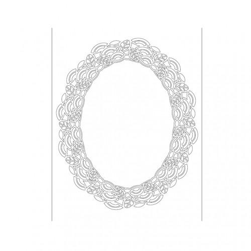 SZABLON - OWAL, ORNAMENT, RAMKA  25x36 CM