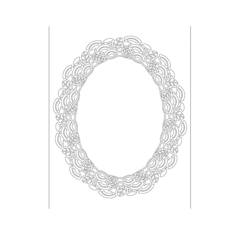 SZABLON - OWAL, ORNAMENT 25x36 CM