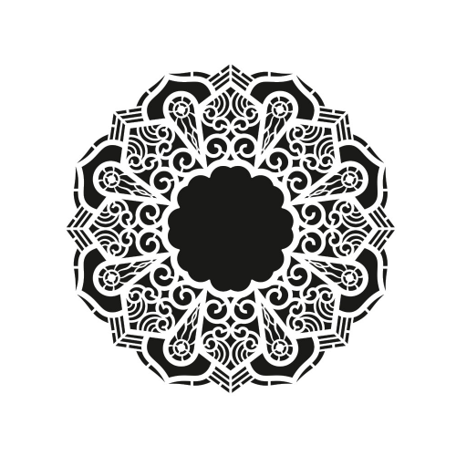 SZABLON - SERWETKA, RAMKA , ORNAMENT 30x30 CM