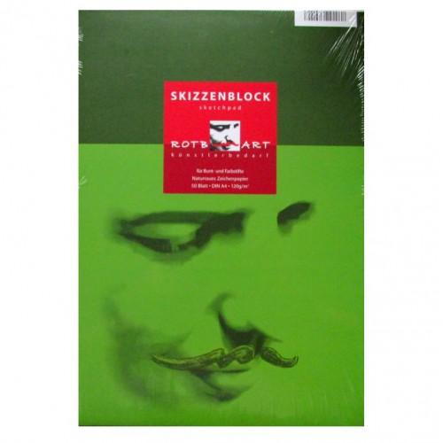 BLOK DO SZKICÓW 120G GREEN A4 50 KARTEK