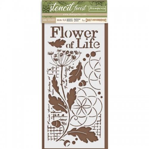 SZABLON  3D 12x25 CM FOREST FLOWER OF LIFE