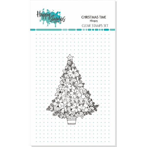 HAPPY SCRAP STEMPEL CHRISTMAS TIME, CHOINKA