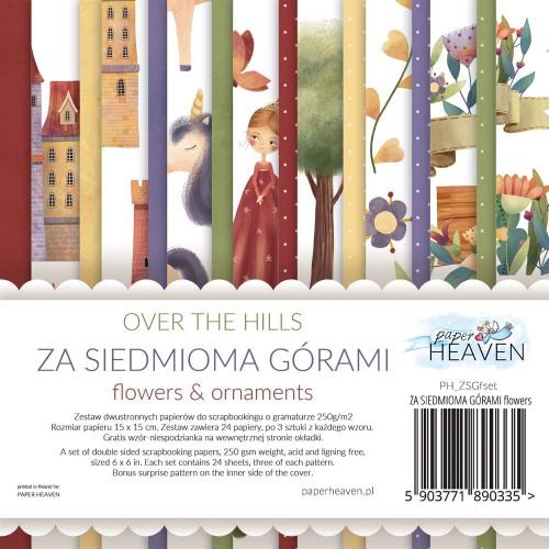 BLOCZEK  15 X 15 CM ZA SIEDMIOMA GÓRAMI - FLOWERS