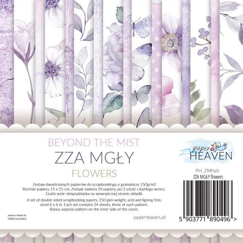 BLOCZEK  15 X 15 CM  ZZA MGŁY - FLOWERS