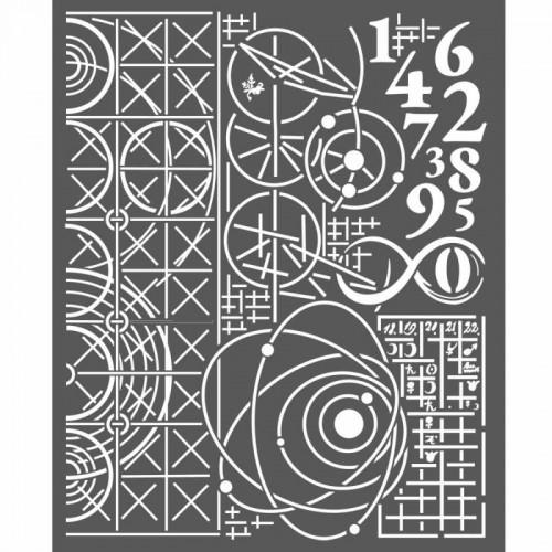 STAMPERIA SZABLON 3D 20x25 cm COSMOS-ASTRONOMICZNE TŁO