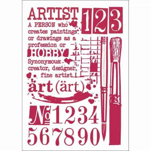 STAMPERIA SZABLON 21x29,7cm ARTIST