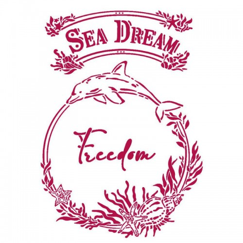 STAMPERIA SZABLON 21x29,7 cm SEA DREAMS FREEDOM