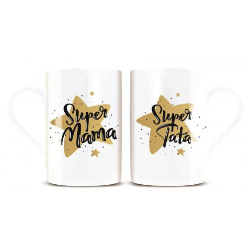 KPL. 2 KUBKÓW SUPER MAMA SUPER TATA