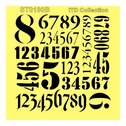 SZABLON MASKA 16x16 - CYFRY