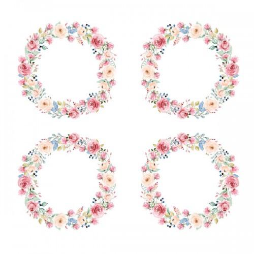 BLOCZEK  15 X 15 CM  PŁATKI NA WIETRZE - FLOWERS