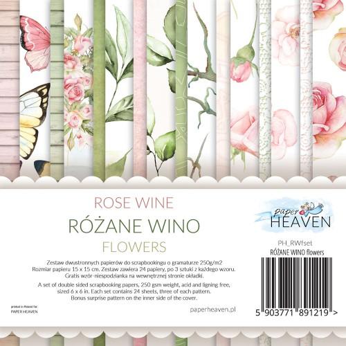 BLOCZEK  15 X 15 CM  RÓŻANE WINO - FLOWERS