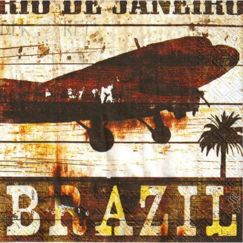 SERWETKA MAŁA - SAMOLOT, BRAZIL