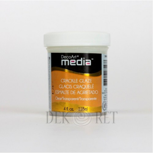 DECOART CLEAR CRACKLE GLAZE 118 ML