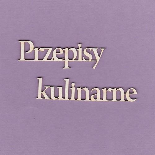 TEKTURKA NAPIS - PRZEPISY KULINARNE 2 SZTUKI
